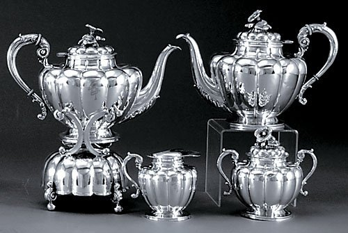 501: Sanborns sterling four piece tea service