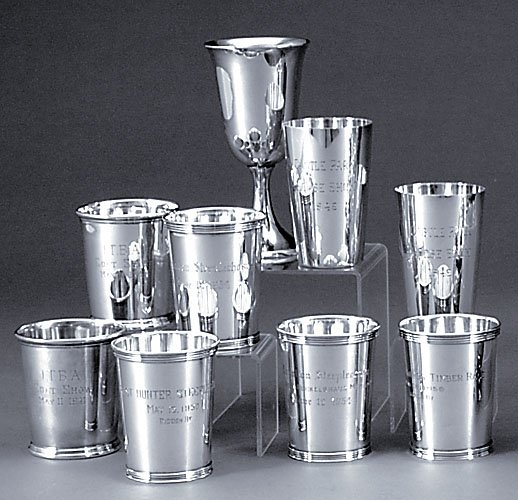 506: Sterling juleps, beakers and goblet