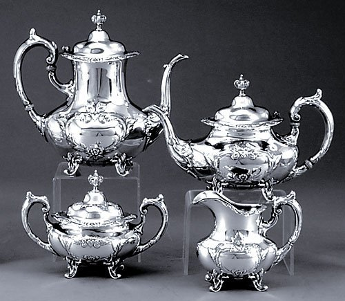 507: Reed and Barton sterling four piece coffee and tea