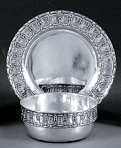 516: Gorham sterling child's bowl and plate set