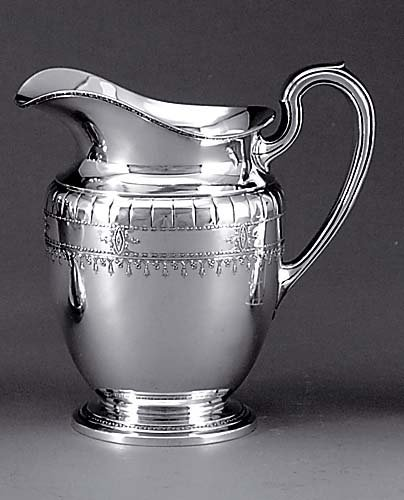 522: Sterling water pitcher, Frank W. Smith Silver Co.