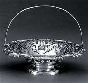 636 Victorian silverplate brides basket Martin  Hal