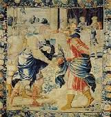 696: Impressive Flemish pictorial tapestry
