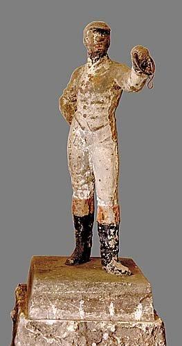 749: Southern cast iron lawn jockey