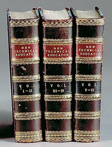 864: 3 vols books: Antique technical education