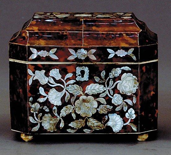 5: Regency style inlaid tea caddy