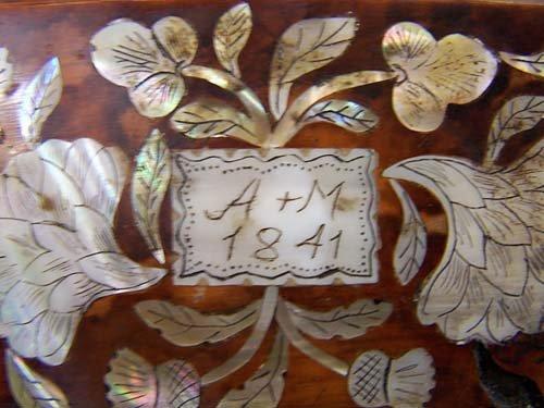5: Regency style inlaid tea caddy - 4