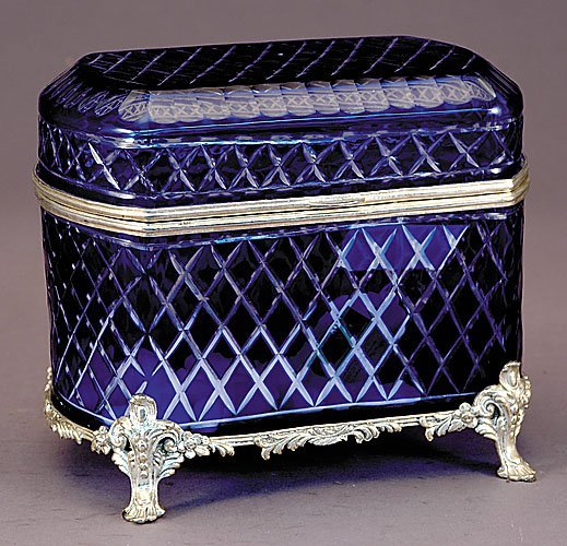 8: Cut-glass and silver-mounted box