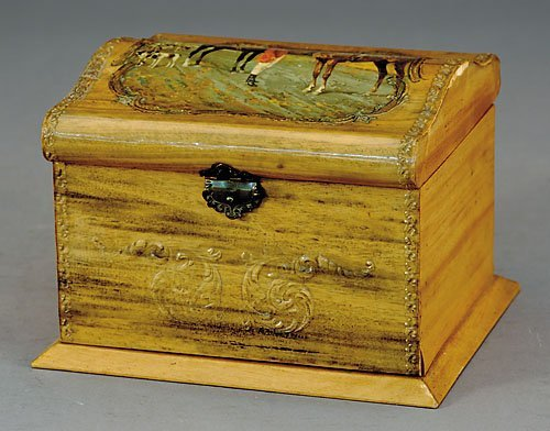 9: Victorian wood collar box