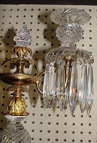 16: Regency crystal and gilt-bronze candelabrum - 3