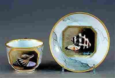 100: Worcester Barr, Flight & Barr teacup and saucer