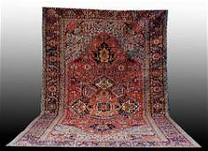 225 Antique Persian Heriz carpet