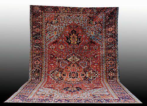 225: Antique Persian Heriz carpet