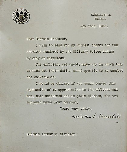 556A: Winston Churchill signed letter