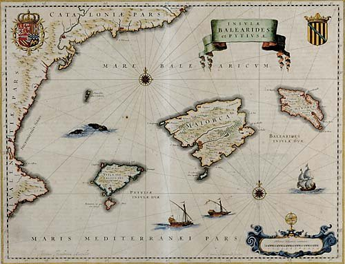 558: Early map of the Balearic Islands