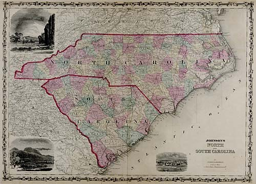 559: Map of North and South Carolina
