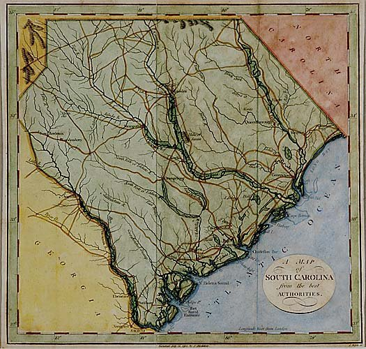 560: Early map of South Carolina by J. Roper