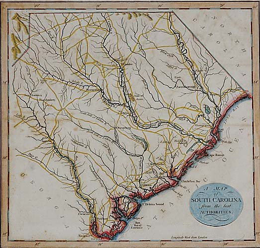 562: Early map of South Carolina by J. Roper