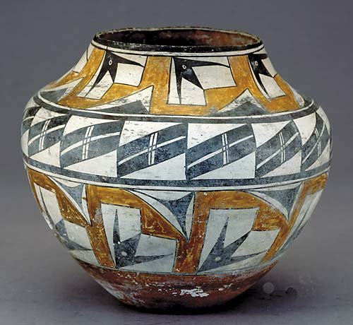 566: Native American Indian pottery olla, Acoma