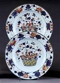 711: Pair Chinese Export Imari pattern plates