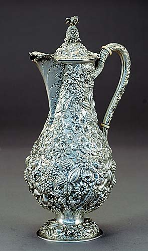 1: Fine American sterling pitcher, Loring Andrews & Co.