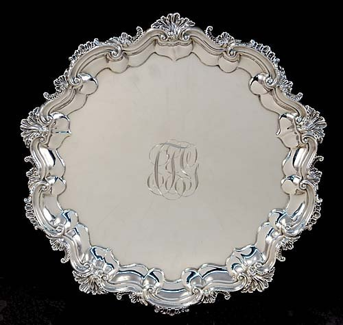 7: Foster & Co. sterling footed salver, by Dominick & H