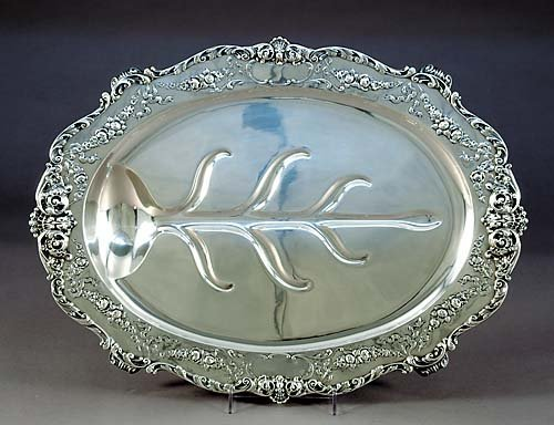 9: Gorham sterling well-and-tree platter