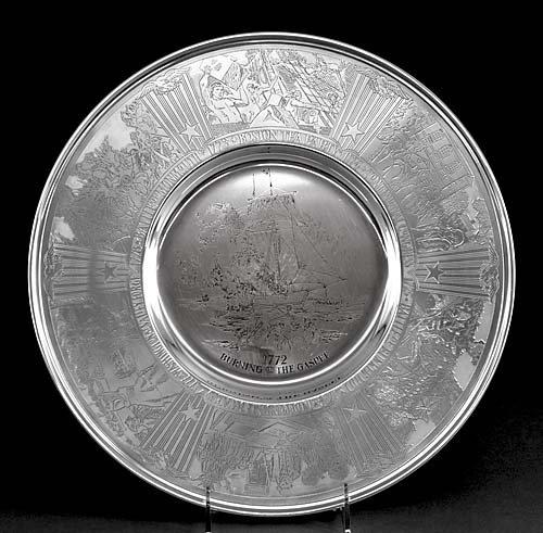 12: Gorham commemorative sterling charger
