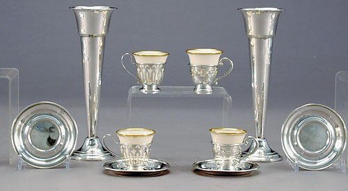 14: American sterling table articles