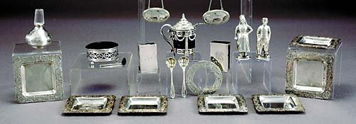 15: Collection silver and plated table articles