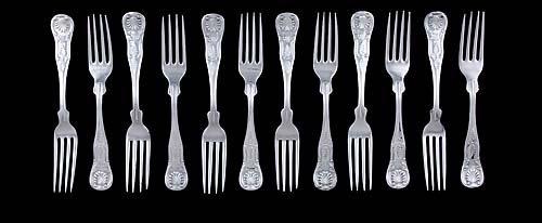 18: Set of Faber & Sons sterling forks