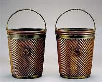 33: Pair peat buckets