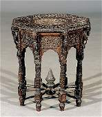 112 AngloIndian carved hardwood side table