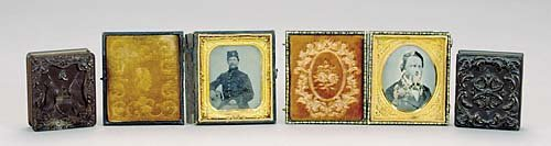 515: Three cased daguerreotypes and one fitted case