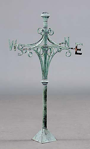 519: American copper weathervane stanchion