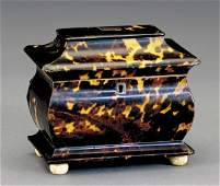16: Regency shell and rosewood tea caddy