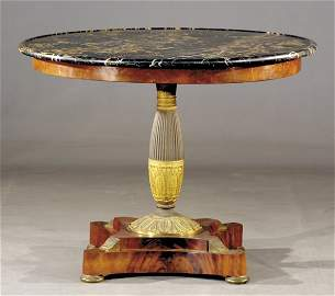 169: French Empire marble-top center table