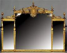 271: English carved giltwood overmantel mirror