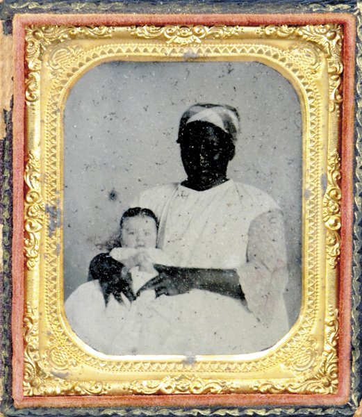 504: Rare daguerreotype of African American woman with