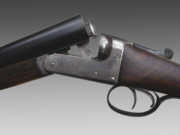 1012: Birmingham-made 12-bore boxlock non-ejector shotg