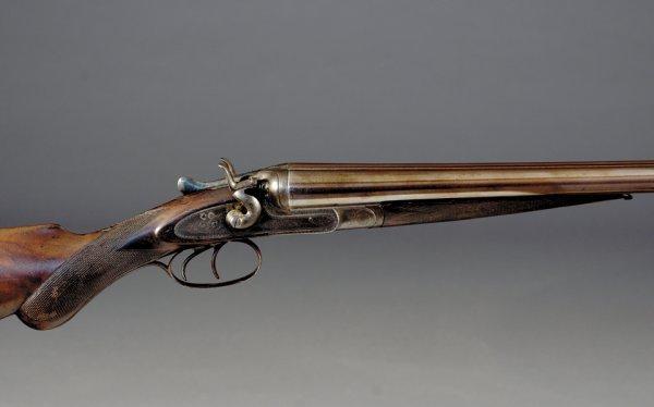 1013: W. H. Pollard 16-bore hammer SxS shotgun, SN6443