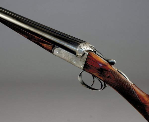 1017: Charles Boswell 12-bore boxlock ejector sporting