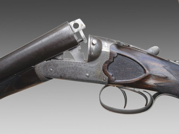 1084: William Lee 12-bore boxlock non-ejector shotgun,