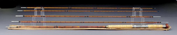 1194: Vintage H. L. Leonard bamboo salmon fly rod