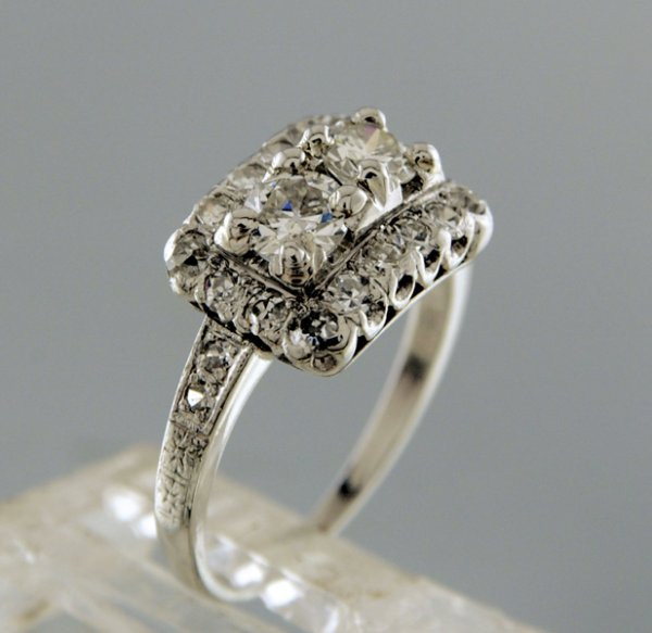 2003: Two platinum and diamond rings (Total 2pcs)