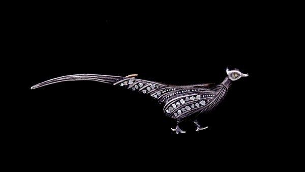 2006: Antique pheasant brooch