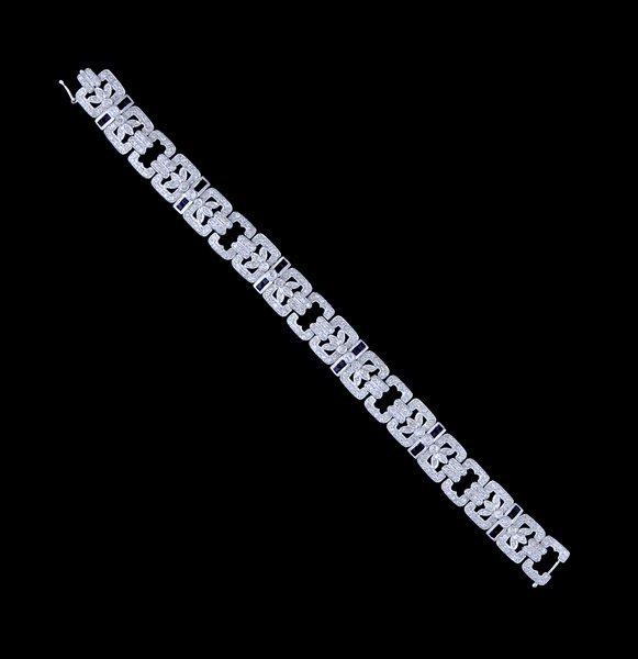 2010: Art Deco style diamond and sapphire bracelet