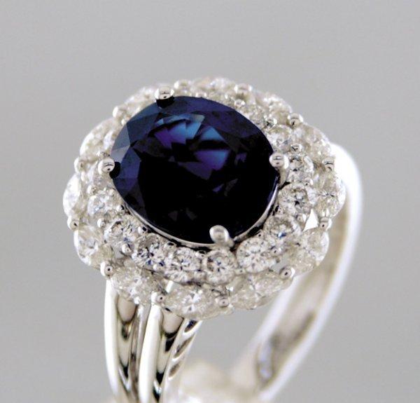 2022: Sapphire and diamond ring