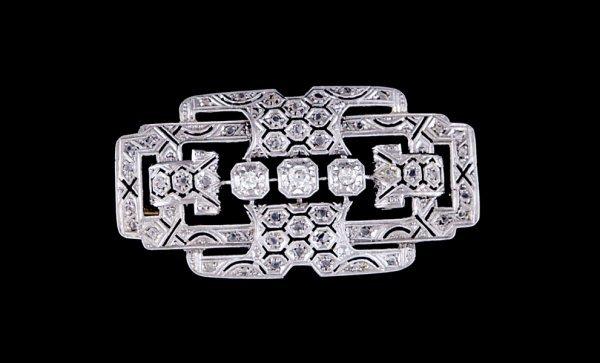 2023: Art Deco diamond brooch