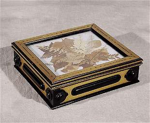 018: Edwardian mixed wood box circa 1900